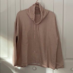 Chaps soft pink cowl neck pullover